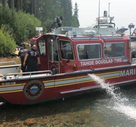 Lake Assault Tahoe Douglas fireboat