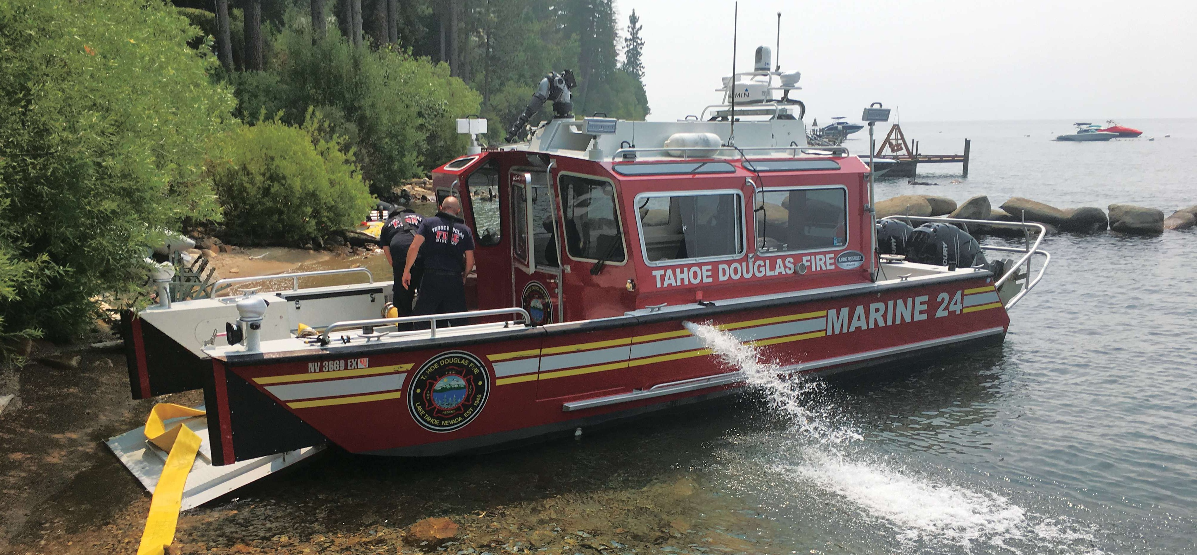 Lake Assault Tahoe Douglas fireboat