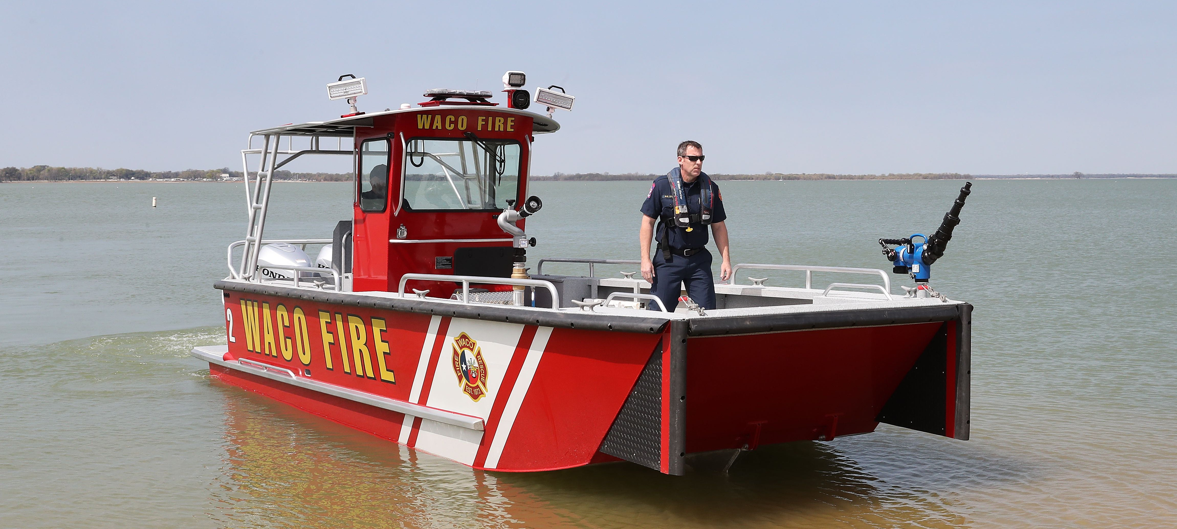 Waco Lake Assault Fireboat
