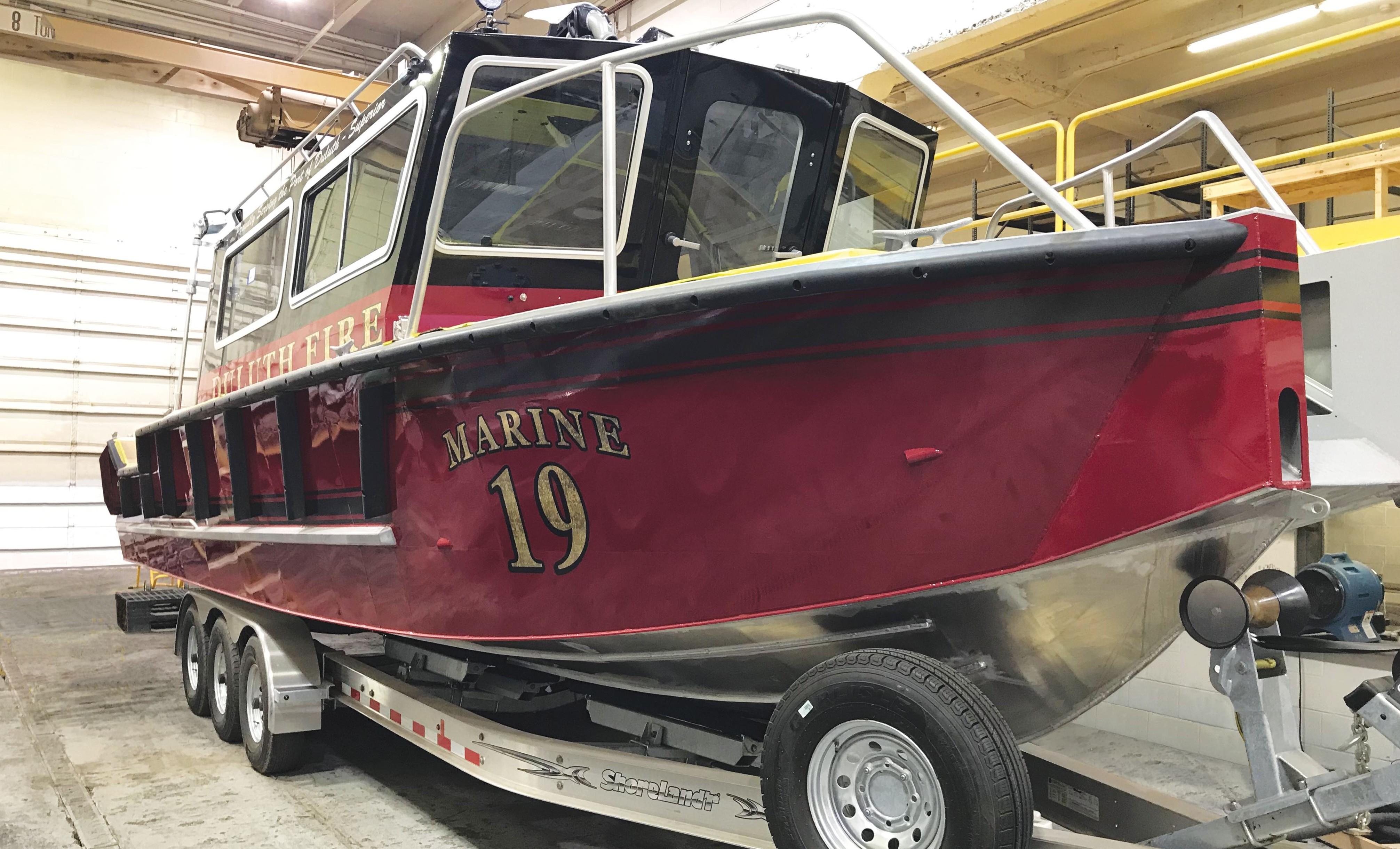 Fire Boat Minnesota Minneapolis Fire Department Fireboat 22 Fire Rescue Boat